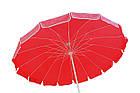 Зонт пляжний з клапаном і срібним напиленням, діаметр 3м., 16 спиць, Червоний, фото 5