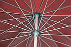 Зонт пляжний з клапаном і срібним напиленням, діаметр 3м., 16 спиць, Червоний, фото 6