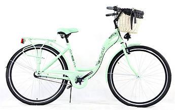 Велосипед жіночий міський Lavida CityLine 28 Nexus 3 Mint з кошиком Польща