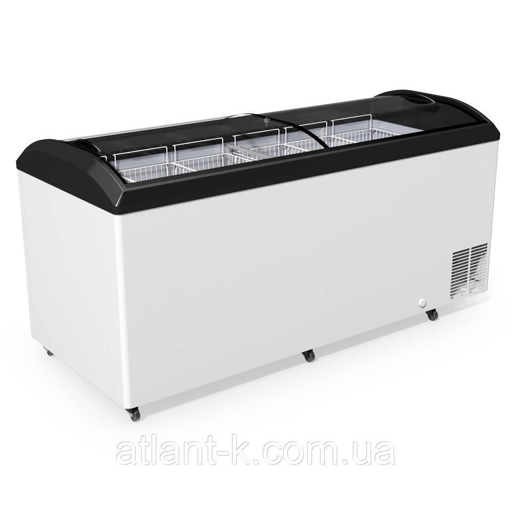 Морозильный ларь JUKA  M 800 D с гнутым стеклом