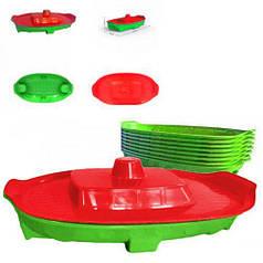 """Детская пластиковая песочница-бассейн с крышкой  Doloni """" Корабль"""" 03355/2"""