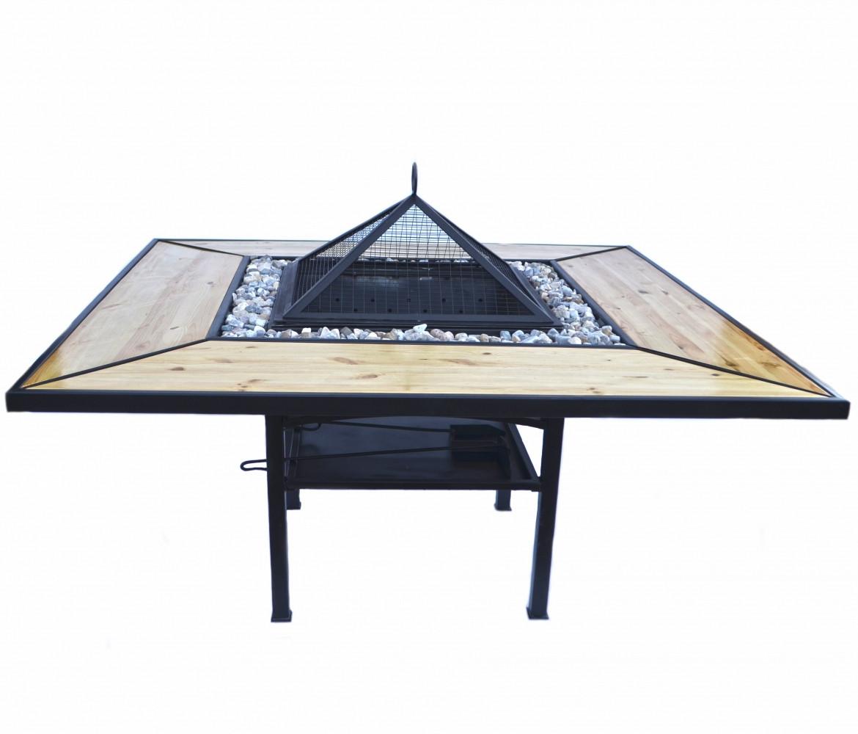 Костровый стол - гриль - мангал Троян Премиум