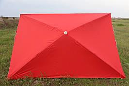 Зонт торговый 3х2м, прямоугольный, 3х2 метра усиленный Красный, Синий, Зеленый