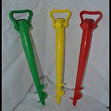 Бур пластиковый для зонта, Держатель зонта в грунте