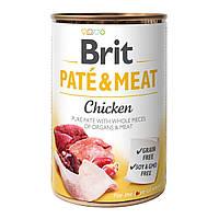 Brit Pate & Meat консервы для собак 400г*6шт (курица)