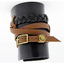 Широкий женский браслет-манжета из натуральной мягкой кожи