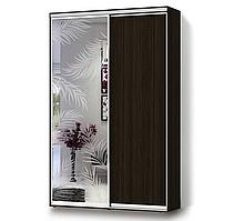 Матирующая наклейка для стекла и зеркала Листья пальмы пленка на окно под пескоструй для шкафа-купе
