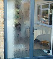 Матирующая виниловая наклейка Лесная песня ПВХ пленка полупрозрачная для окна стекла зеркала