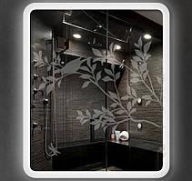 Матирующая пленка для окна Птицы на ветках дерева наклейки на стекло зеркало шкафа-купе