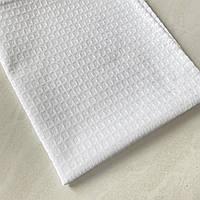 Готовое вафельное полотенце белое однотонное, 42х75 см, фото 1