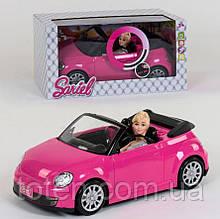 Кукла 28 см с машинкой 6633  световые и звуковые эффекты, в коробке