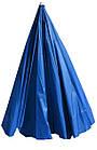 Зонт пляжний з срібним напиленням, діаметр 3,3 м., 12 товстих спиць, Синій, фото 5