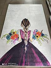 """Ковер в детскую """"Девушка с цветами"""" 100х160см."""