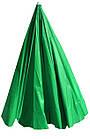 Зонт пляжний з клапаном і срібним напиленням, діаметр 3,3 м., 12 товстих спиць, Зелений, фото 4