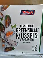 Мидии Новая Зеландия в полуракушке