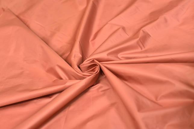 Плащевка лаке пастельно- оранжевая, фото 2