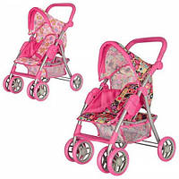 Детская Коляска, игрушечная коляска для кукол 9352/011 розовая. 11/18.5