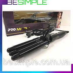 Плойка хвиля для волосся PRO Mozer MZ-6621 \ Плойка потрійна