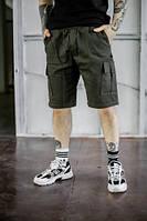 Шорты карго мужские летние модные стильные качественные оливковые Intruder Miami