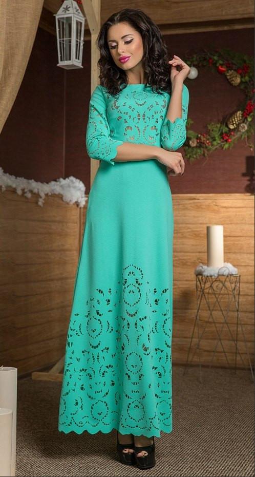 21f5959d8a8 Шикарное длинное платье в пол больших размеров до 60-го с перфорацией -  Стильная женская