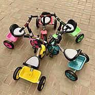 Велосипед трехколесный TILLY Camper T-319 Turquoise звонок, корзинка, мягкая накладка на сиденье, фото 2