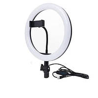 Кольцевая LED лампа XD-260 с креплением для телефона (Black)   Светодиодное селфи-кольцо
