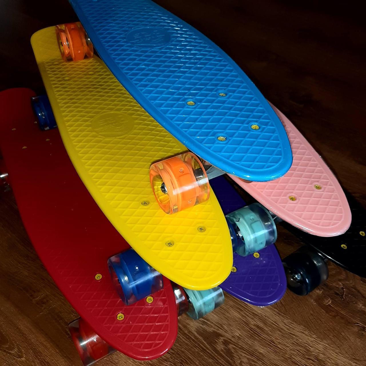 Дитячий пенні борд / Penny Board / скейт з світяться колеса для дитини