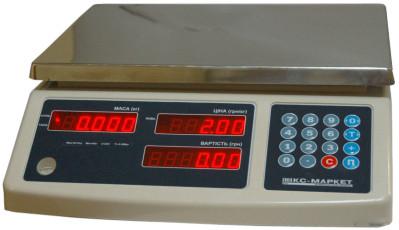 Весы торговые Икс-маркет ICS-30 NT без стойки ― Компания Укрвесы