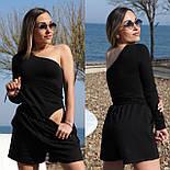 Жіночий костюм двійка річний модний з шортами, фото 4