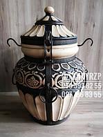 "Тандыр GT ""Греция"" 100 литров (мех.для крышки, шампура, жароотсекатель, крюк для мяса)"