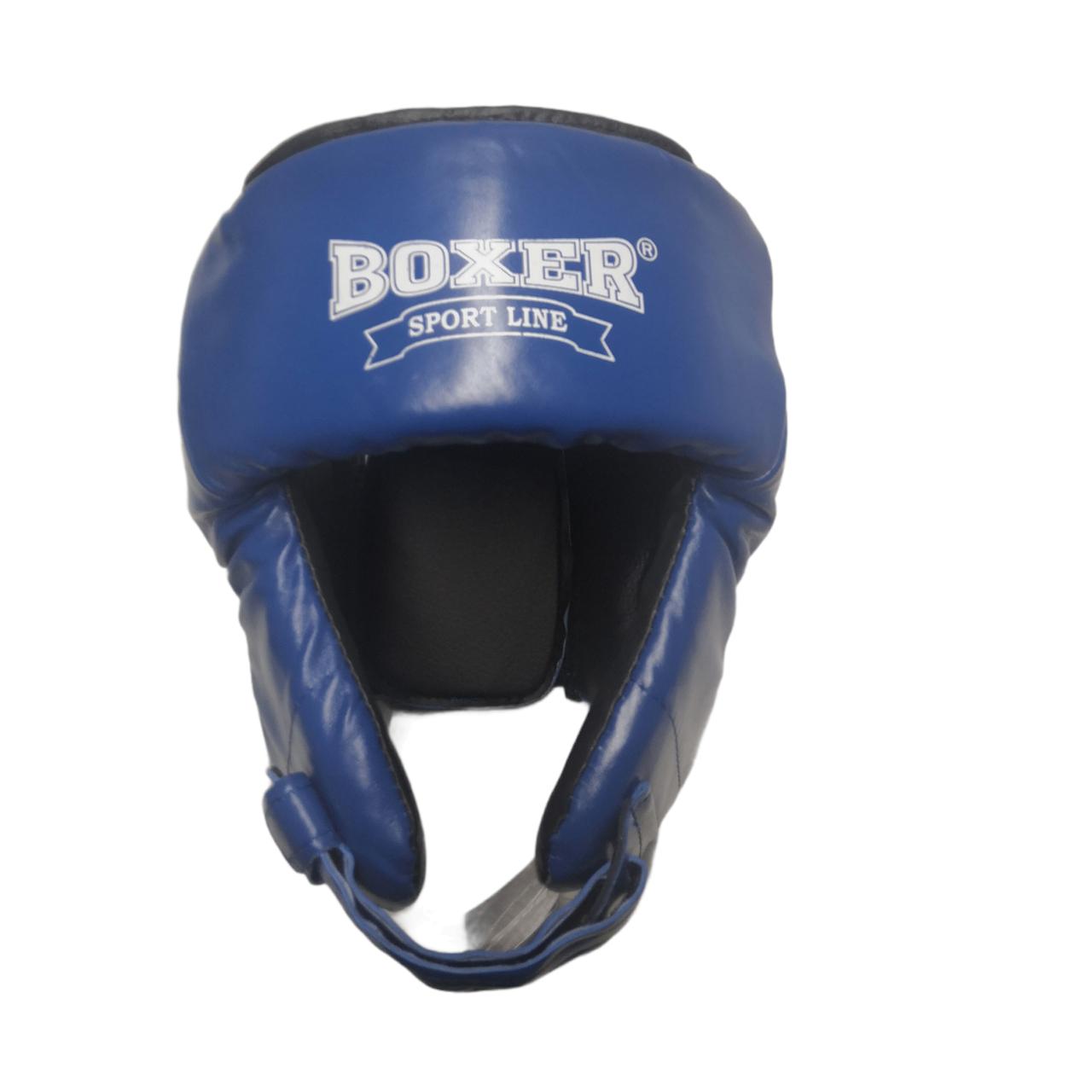 Дитячий шолом боксерський кожвініл М, синій BOXER