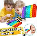 Антистрес сенсорна іграшка Pop It Нескінченна пупырка антистрес Квадрат, фото 5