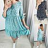 Р 42-52 Свободное летнее платье в цветочный принт 23831