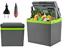 Холодильник автомобильный туристический переносной 2в1 функция подогрев 12 и 220 Вольт