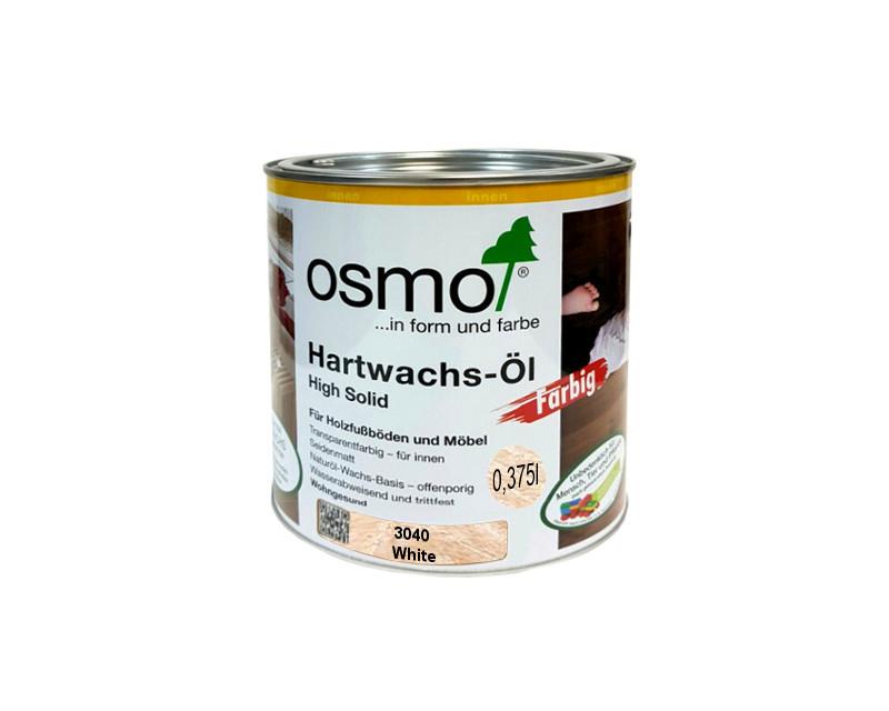 Масло с твердым воском OSMO HARDWACHS-OL FARBIG  для пола и изделий из древесины 3040 - белое 0,375л