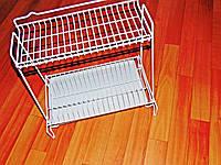 Сушка для посуду двоярусна біла, фото 1