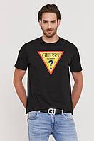 Футболка чоловіча Guess, чорна гесс, фото 1