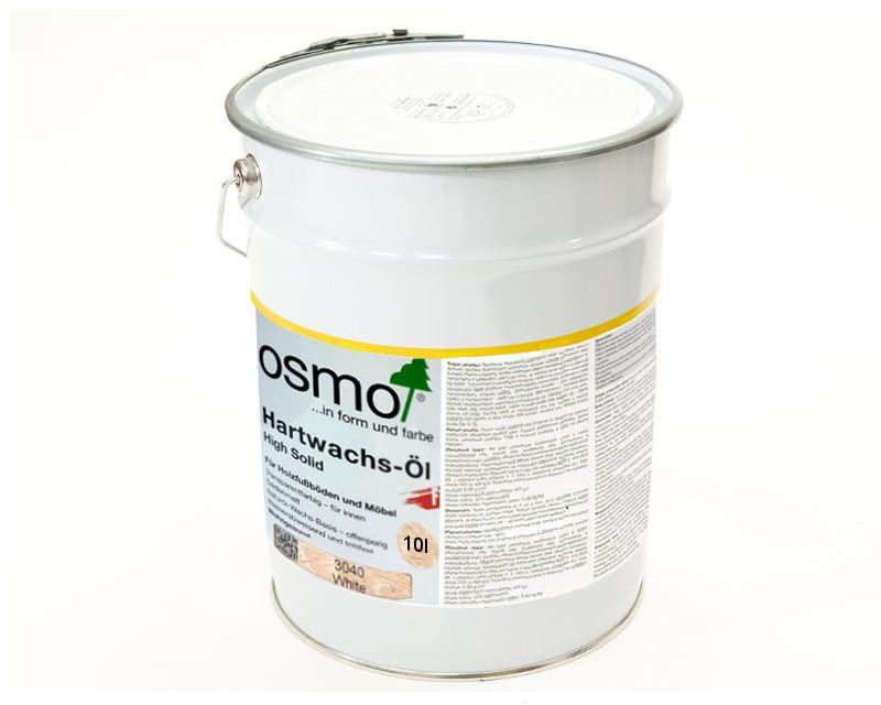 Масло с твердым воском OSMO HARDWACHS-OL FARBIG  для пола и изделий из древесины 3040 - белое 10л
