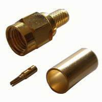 SMA-вилка(реверcная) на кабель (S-001-RP-58-TGG) (RP-SMA-C58JG) (ВЧ-разъем)