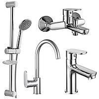 LASKA набор смесителей (4 в 1) для ванны и кухни