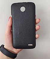 Чехол кожаный для Lenovo A820, Черный