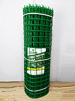Пластиковый забор. Ячейка 50х50 мм, рул. 1м х 20 м.(Сетка заборная)., фото 1
