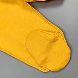 Повзунки однотонні Жовтий Інтерлок 0299 MINIKIN Україна 56(р), фото 2