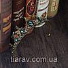 Діадема для волосся ЛОНДА, чорна тіара діадема з зеленими каменями, фото 6