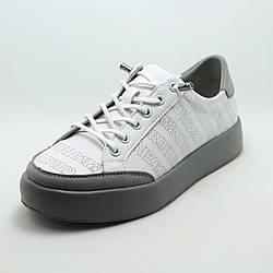 Белые женские кроссовки Grunberg 107507/02-01 с перфорацией