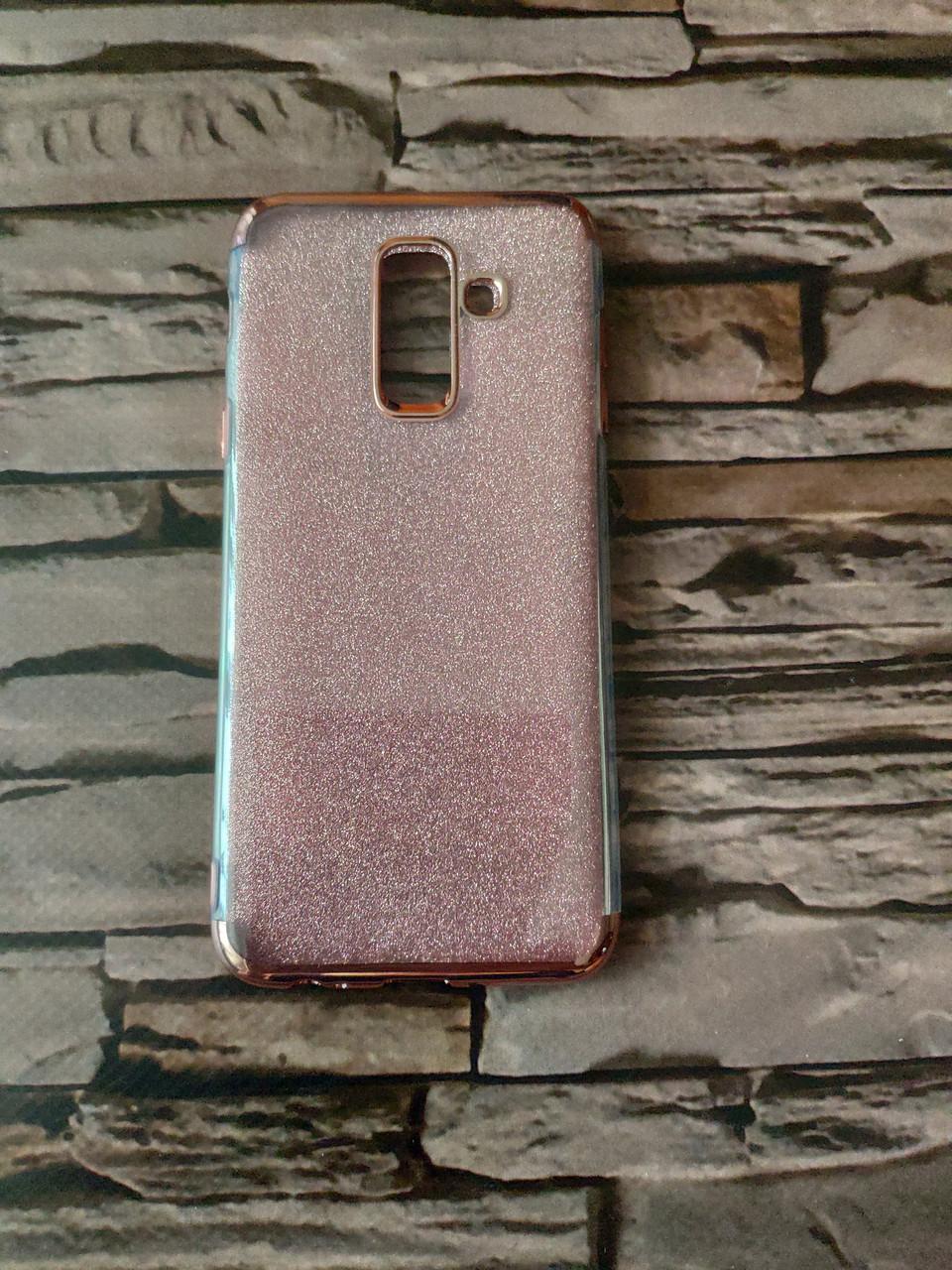 Чехол блестящий для Samsung A6 Plus 2018  (2 цвета)