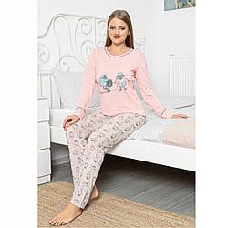 Піжама жіноча турецька XL котон трикотажна рожева Seyko