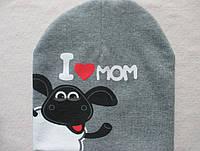 Прикольная трикотажная детская шапка Барашек Шон (от 0 до 5 лет)