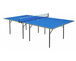 Теннисный стол для пинг-понга для помещений GSI-sport Хобби Стронг Hobby Strong Gk-1s синий