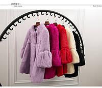 Шубка кролик, меховое пальто большие размеры 10 цветов, фото 1